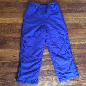 LL Bean Fleece Lined Six Pocket Snow Pants Boys 12